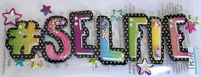 JOLEE'S BOUTIQUE TITLE SELFIE Photo Self Craft Scrapbook Sticker Embellishment