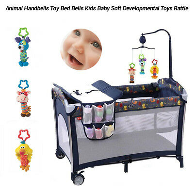 Bed Stroller Bells Kids Baby Soft Toy New Developmental Animal Handbells Rattles