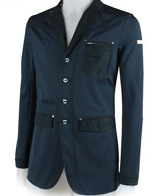 Animo Ian Navy Blue Men's Show Competition Jacket I-50 Uk40