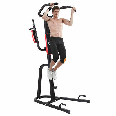 Goplus Chin Up Pull Up Power Tower Dipping Station Fitness Home Gym Extended