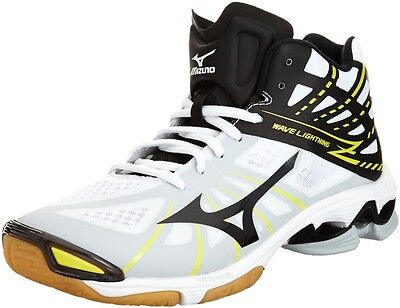 MIZUNO Wave Lightning Z MID Volleyball Shoes White&Black V1GA1505 With Tracking