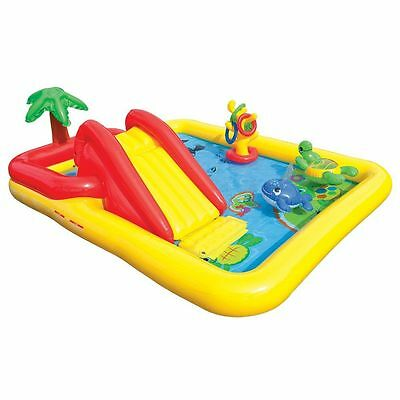 Kids Inflatable Pool Water Slide Park Sprayer Outdoor Garden Play Centre Games