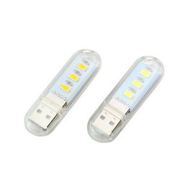 or Notebook Laptop Mobile Power-White Computer USB Gadget LED Lamp USB Light