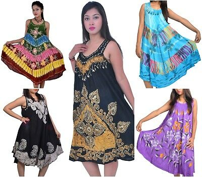 Lot of 10 Indonessia Bali Beach Summer party Womens Maxi Dress