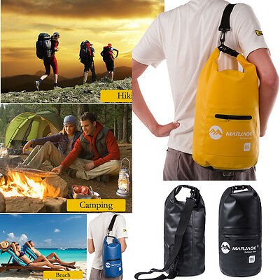 10L 20L Waterproof Storage Water Dry Carry Bag Sack Backpack Pouch Boat AU Stock
