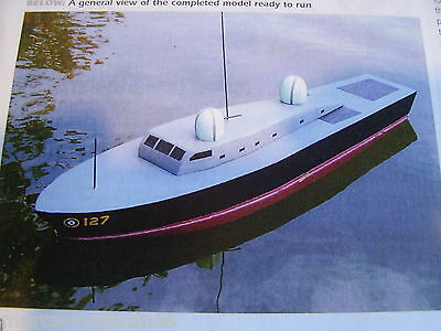 """A Model Boat Plan Raf Asr Air Sea Rescue Launch  On A3 Approx 26.5"""" Long"""