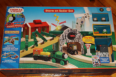 Thomas The Tank Engine Wooden Railway STORM ON SODOR SET RARE RETIRED NEW IN BOX