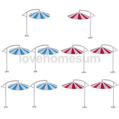 10Pcs DIY Model Sun Umbrella Parasol 1/100 Scale Beach Table Park landscape