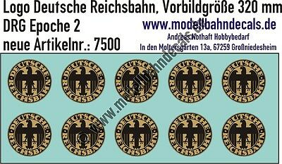 10 TT Decals DRG Logo D: 2,7 mm gold/schwarz Keks TOP 120-7500
