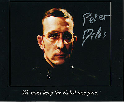 Peter Miles In Person Signed Photo - Doctor Who - AG293