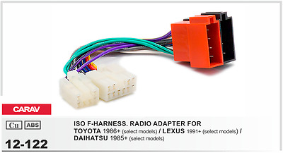 TOYOTA ISO Wiring Harness Connector Stereo Radio Adaptor mazda wiring harness plug lead loom stereo connector \u2022 $12 13  at virtualis.co