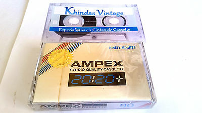 AUDIO CASSETTE TAPE BLANK SEALED - 1x (one) AMPEX STUDIO MASTERING QUALITY 1978