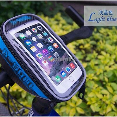 Bicycle Bike Mobile Phone Holder iPhone Frame Pouch Bag Case Carrier Cycle