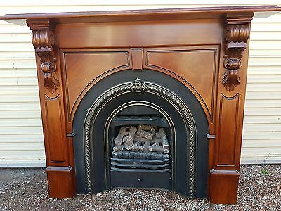 Airflow gas log heater with mantle