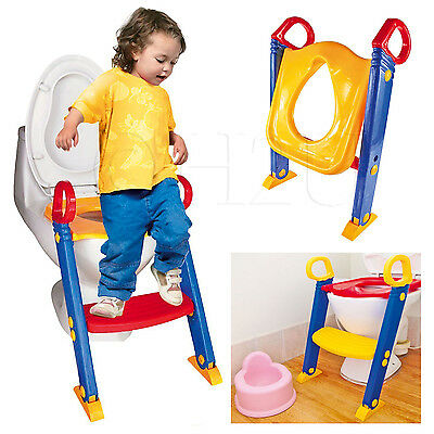 Baby Potty Toilet Trainer Ladder Training Seat Kids Toddler Children Bathroom