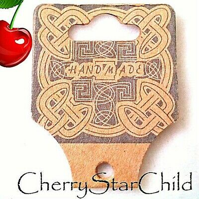 40 x 'handmade' celtic hanging tags for markets shop bracelet necklace jewellery