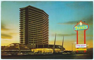 DUNES casino 1960's casino de paris marquee~las vegas NV hotel post card #c11