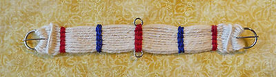 Unicorn Woman Hand Woven Western Girth Off-White,Blue,Red stays 1/9 Scale Breyer