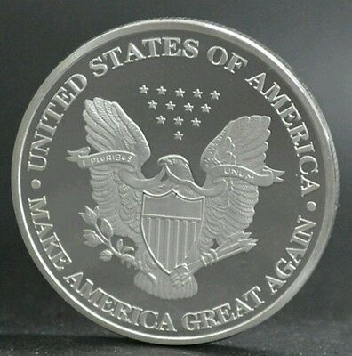 Proof Donald Trump Silver Eagle style coin, MAGA 45th PRESIDENT 1st QUALITY ONLY