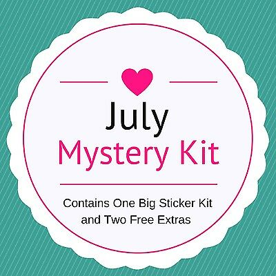 July Mystery Kit -  Planner/Diary/Scrapbooking Stickers- Matte Paper - Big Kit