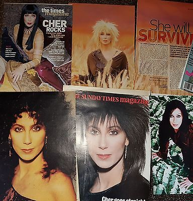 Cher hundreds of very rare clippings and promo items