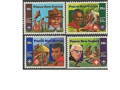 Papua New Guinea 1981 SCOUT MOVEMENT (4) Unhinged Mint SG 426-9
