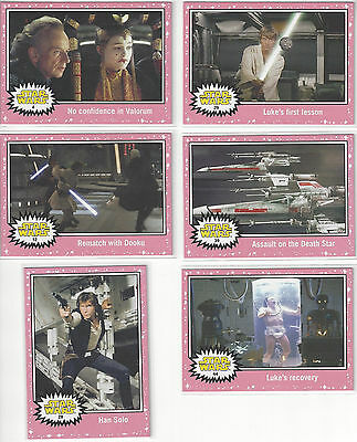 2015 Star Wars Journey to The Force Awakens Lightsaber Neon Pink 6 card lot
