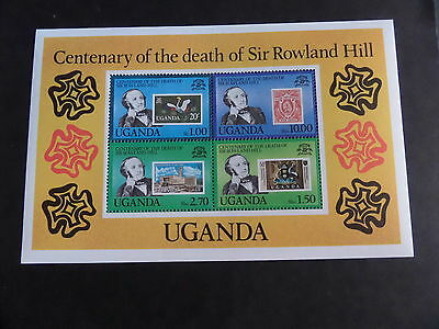 Uganda 1979 Death Centenary Rowland Hill MS302 MS MNH UM unmounted mint