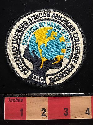 Officially Licensed African American Collegiate Products Patch TOC Hands 67E1