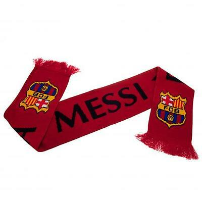 Lionel Messi Barcelona Official Crested Jacquard Knit Scarf Present Gift