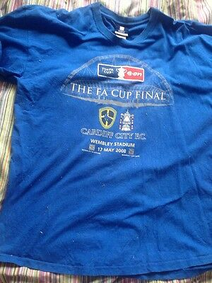 Cardiff City FA Cup Final Official Wembley T Shirt V Portsmouth