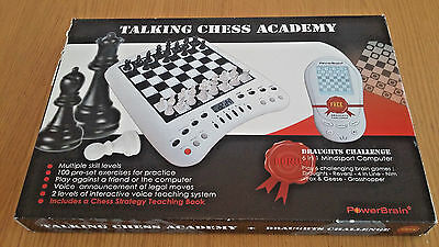 Talking Chess Academy and Draughts Challenge, computer chess set, New in Box