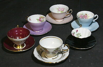 Collection of Gold Rimmed Cups & Saucers