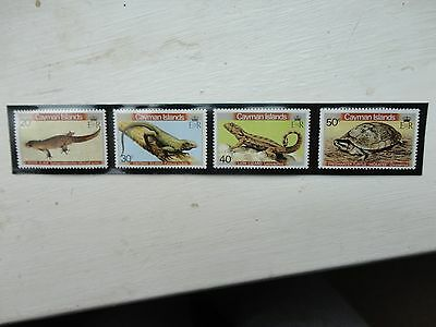 CAYMAN ISLANDS stamps reptiles Amphibians mint never hinged 1981 SG 530-3
