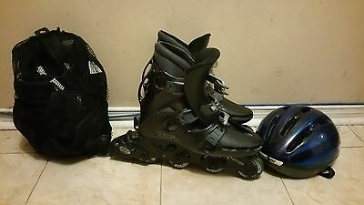 Oxygen Roller Blade Size 7  With Helmet And Pads