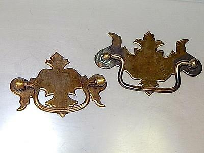 For the Woodworker-2 Chippendale Style Brass Back Plates & Handles for Drawers