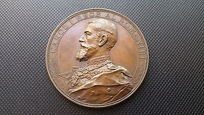Romania 1897 Bronze Medal  King Carol I Inauguration Of  Iasi  University