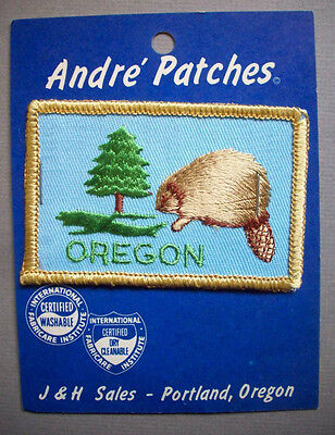 Oregon Beaver State unused embroidered patch