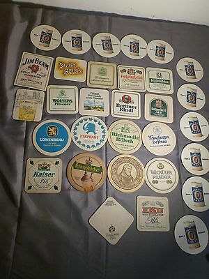 Vintage International Beer Drink Coasters 19 Jim Beam Postcard Coaster Fosters