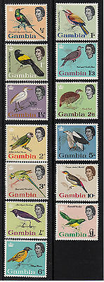 Gambia Birds 1963 Sg: 193/205 Set Of 13 Mlh .ct.£85.