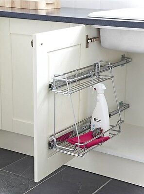 Hafele 300mm Base Unit Pull Out Basket Storage for Hinged Doors