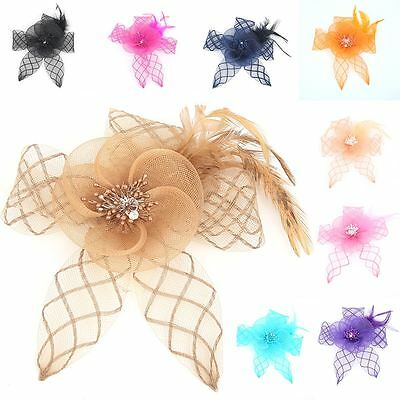 Womens Ladies Wedding Races Party Flower Feather Fascinator Royal Ascot