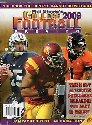 2009 Phil Steele's College Football Yearbook-Jacquizz Rodgers-Max Hall-Byu--Mays