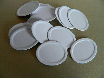 (Kp3.11) Dolls House Oval White Paper Plates X 20