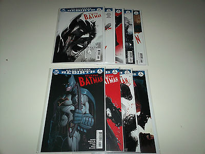 DC Universe Rebirth All Star Batman lot of 9, #1-7,  #1 and #2 variants.  Deal!