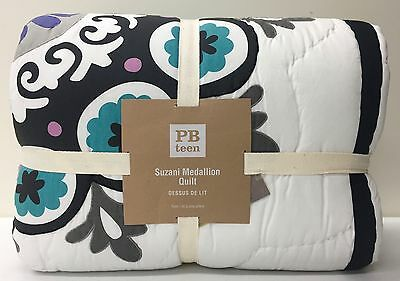 NEW Pottery Barn TEEN Suzani Medallion Patchwork TWIN Quilt
