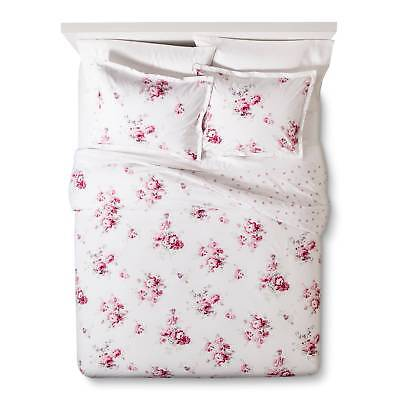 Pink Sunbleached Floral Duvet Cover Set - Simply Shabby Chic (King)