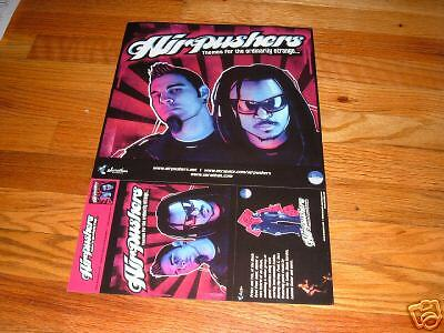 AIRPUSHERS Air Pushers BLACK EYED PEAS Concert Poster