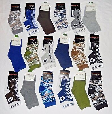 12 Pairs Boys Design Crew Socks Assorted