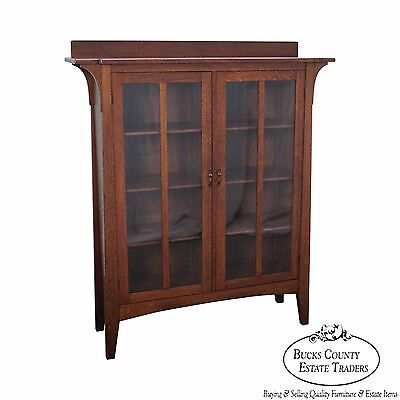 Limbert Antique Mission Oak 2 Door Bookcase (B) #358